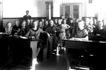 En skolestue fra spanskrørets tid