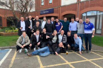 Før coronavirus slog til: 21 morsingboer på herlig fodboldtur til Ipswich