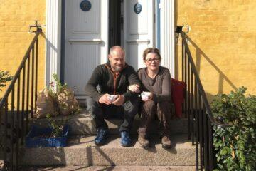 Kunstnere fra København i Karby Præstegård