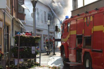 Brand i gågaden i Nykøbing
