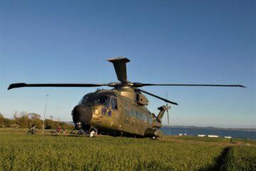 Nåede i land inden helikopteren kom