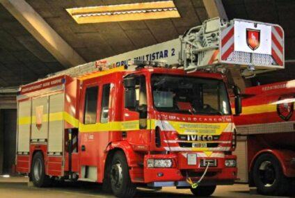 Brand i lade ved Ørding
