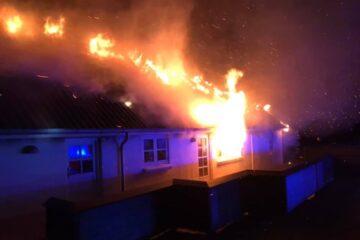 Branden var slukket et par timer efter midnat