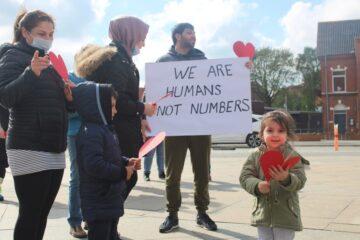 200 demonstrerede imod hjemsendelser af flygtninge til Syrien