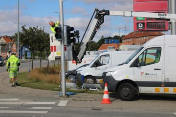 Slut med trafikprop i kryds ved Mågevej