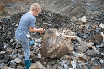 Tag på fossiljagt i efterårsferien