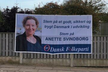 Politiker fik stjålet sit valgbanner